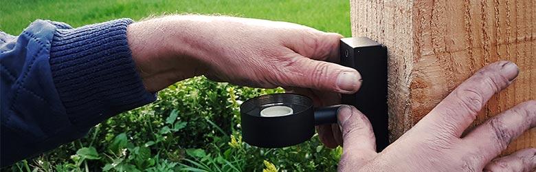 tuinverlichting aansluiten